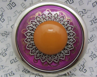 Compact Mirror Carmel Candy Comes With Protective Pouch