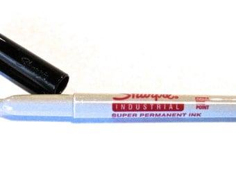 3 - Black Extra Fine Industrial Sharpie Marker - Qty 3