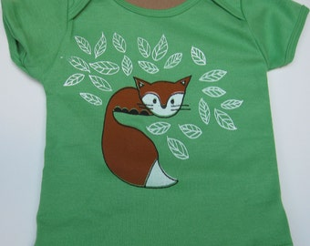 Fox Baby Shirt Cotton Grass