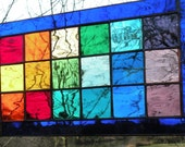 Rainbow Glass Window Tiffany style panel