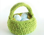 Easter Egg Basket Crochet Pattern PDF INSTANT DOWNLOAD
