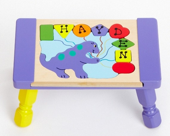 Personalized Name Dinosaur Theme Puzzle Step By Younameittoys