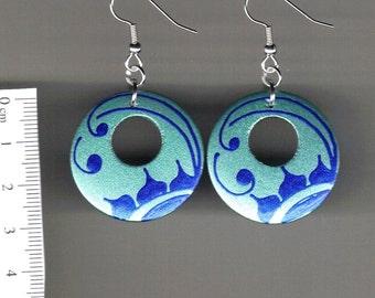 Handpainted wooden earrings- Floral