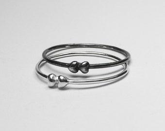 Silver Tiny Hearts Ring