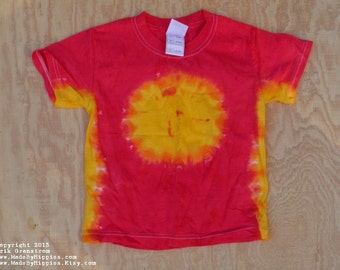 The Sun Tie Dye T-Shirt (Fruit of the Loom Size Youth XS 2-4) (One of a Kind)