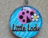 Ladybug Ladybug Glass Tile Pendant Necklace