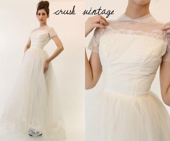 dot wedding dress