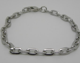 Lobster Clasp Chain Bracelet  is ready for Charms or Dangles  Ships from USA  Immediately. (Br029)