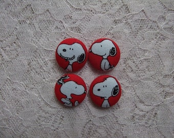 Snoopy Fabric Buttons
