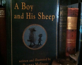 A Boy and His Sheep -- Book, signed