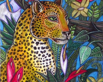 Leopard / Big Cat / Jungle Cat Animal Art Print by Lynnette Shelley