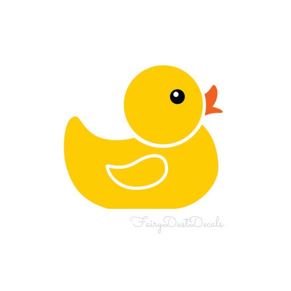 Yellow rubby ducky wall decals set of 6 duck by