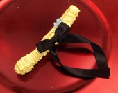 Simple Satin Bridal Garter with BONUS Something Blue..You Choose The Colors..shown in yellow/black