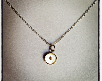 FAITH the Size of a Mustard Seed Sterling Silver Small Mustard Seed Resin Pendant Thin Rope Chain Necklace