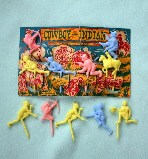 cowboy and indian wedding cake topper cowboy and indian vintage cake topper candle by 13023