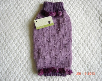 Dog Sweater Coat - Size XSMALL - Plum Pretty