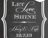 Custom Wedding Sign. Chalk board Art. PDF Dowload. Wedding Reception