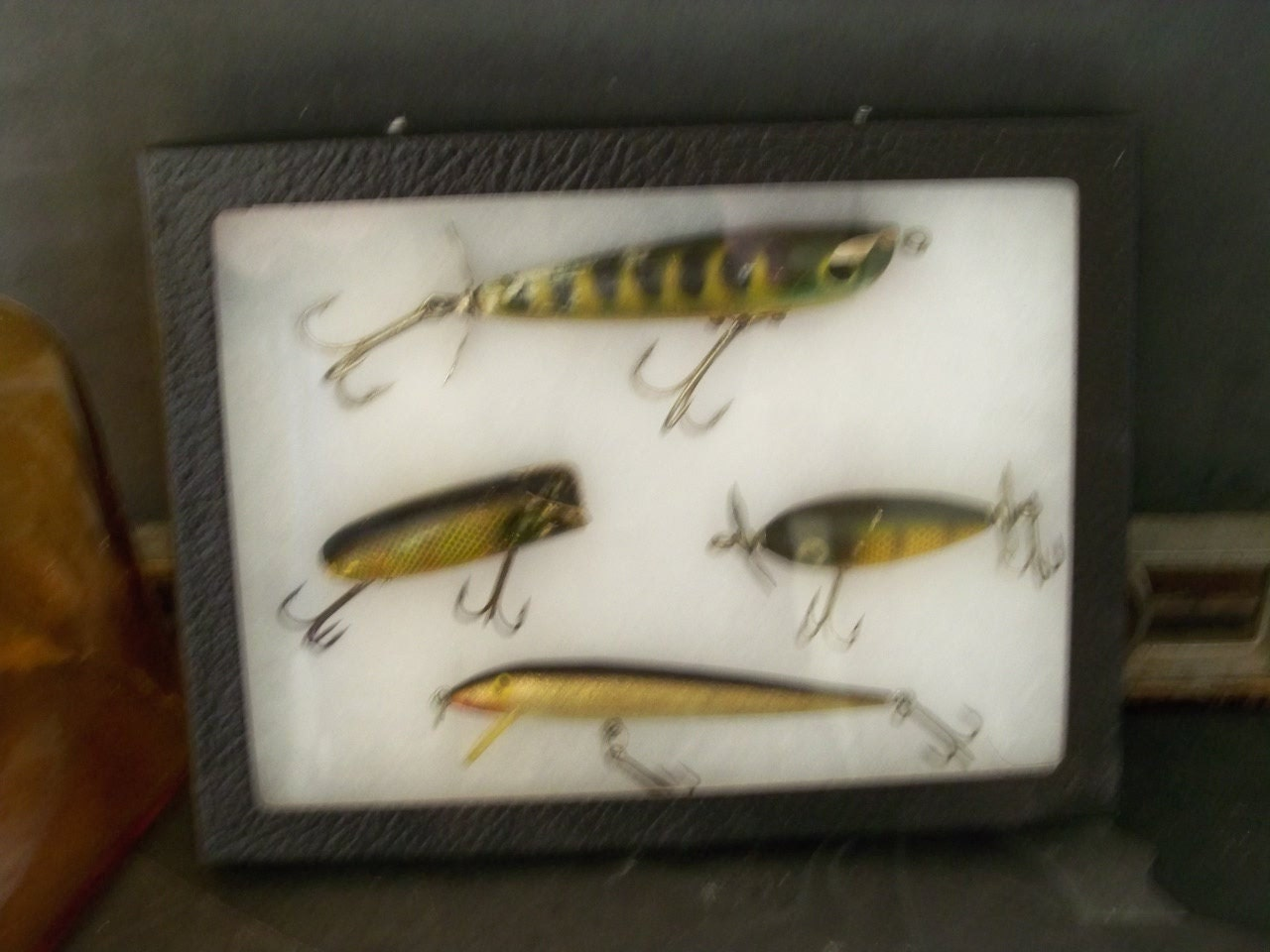 Fishing lure display vintage mid century and classic by for Fishing lure display
