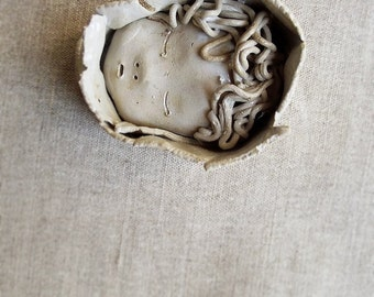 Little Boy - Little girl - Baby  - Children - hanging decoration - stoneware