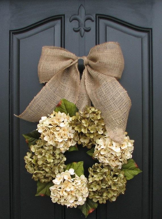 Wreath Spring Wreaths Year Round Floral Wreath Shabby Chic