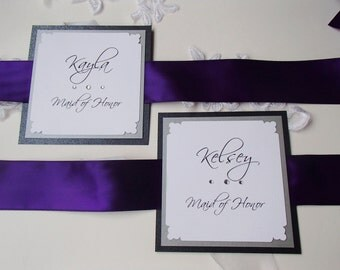 Personalized Bouquet Signs-Satin ribbon