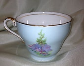 Aynsley Teacup Light Blue with Oriental Garden Scene