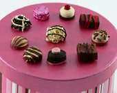 Valentines Day Gift Box, candy, quilled, red and pink, striped, cardboard, brown, chocolates, love, brown