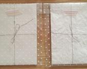 natural washi paper - envelope flat sack - set of 10