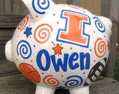 Team Spirit-Personalized Piggy Bank-Size Large