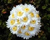 Daisy Button Wedding Flower Bridal Bouquet Ywllow Buttons