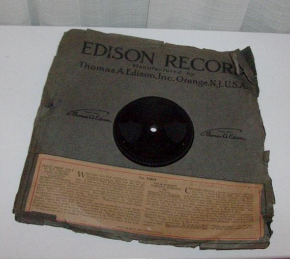 1912 Edison Gramophone Record