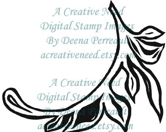 INSTANT Download Digital Stamp Image Decorative FLOURISH 2