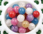 18mm Marbled Swirl Gumball Bubblegum Resin or Acrylic Beads - 12 pcs set