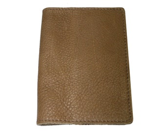 Almond Brown Leather Passport Cover For Men & Women - Accessories