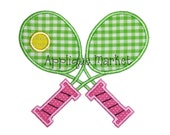 Machine Embroidery Design AppliqueTennis Racquets INSTANT DOWNLOAD