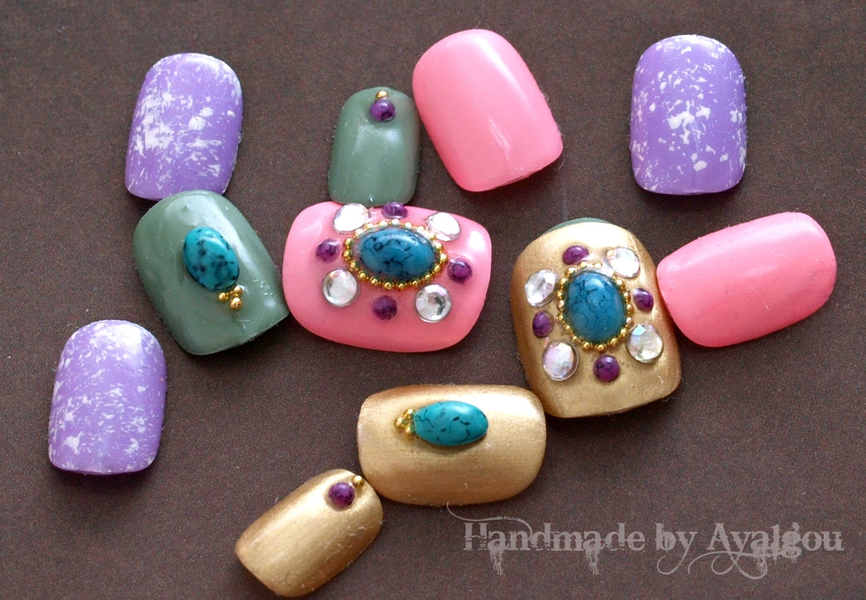 Japanese nail art fake nails acrylic nails gel nails zoom prinsesfo Image collections