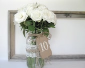 Table Numbers - 1 - 20 wedding table numbers - cream sheet music numbers - pick other colors - wedding decor - vintage wedding,