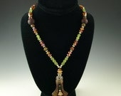 Beaded Necklace Set, Necklace, Earrings, One of a Kind, Celebrate Your Style with Dark Mystery