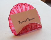 Blown Glass Place Card Ho...