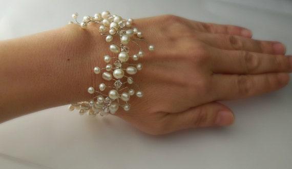 Mermaid Bracelet in sterling silver - Bridal Bracelet, Wedding Bracelet