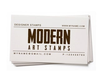 Business Card Stamp   Custom Rubber Stamp   Custom Stamp   Personalized Stamp   Vintage Stamp   Text Stamp   BC59