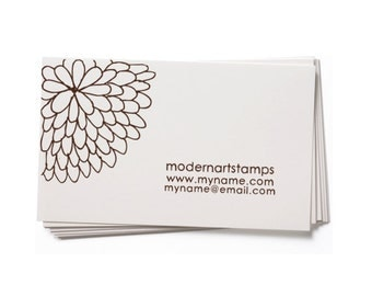 Business Card Stamp   Custom Rubber Stamp   Custom Stamp   Personalized Stamp   Mum Stamp   Flower Stamp   Floral Stamp   BC33