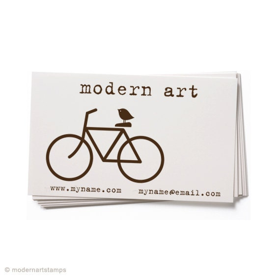Business card stamp custom rubber stamp by modernartstamps for Rubber business cards