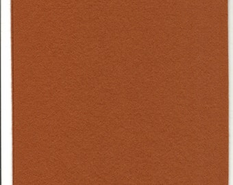 Pure Wool Felt Sheet - Light Ox Brown - Various Sizes