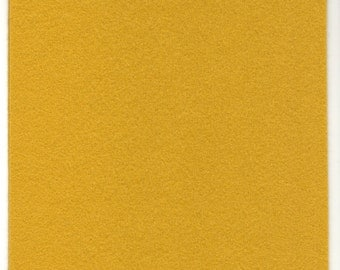 Pure Wool Felt Sheet - Mustard - Various Sizes
