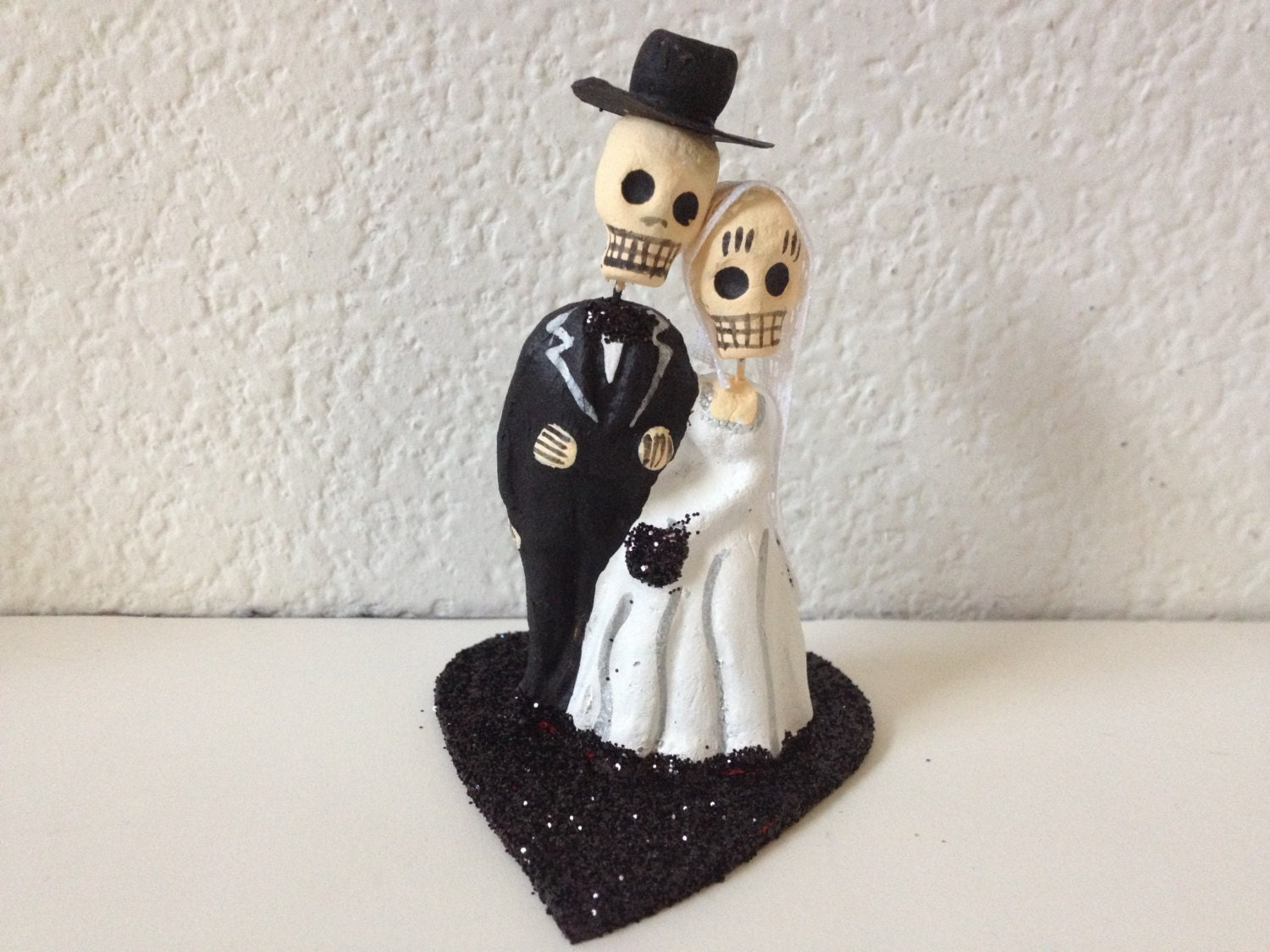 Day Of The Dead Wedding Gifts: Black Till Death Do Us Part Dia De Los Muertos Cake Topper