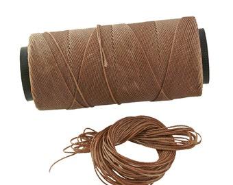 Mocha: Waxed Polyester Cord, ~1mm Macrame Cord, pack of 25ft (8.33 yards) / Hilo Encerado, Linha Encerada, Waxed Polyester Thread