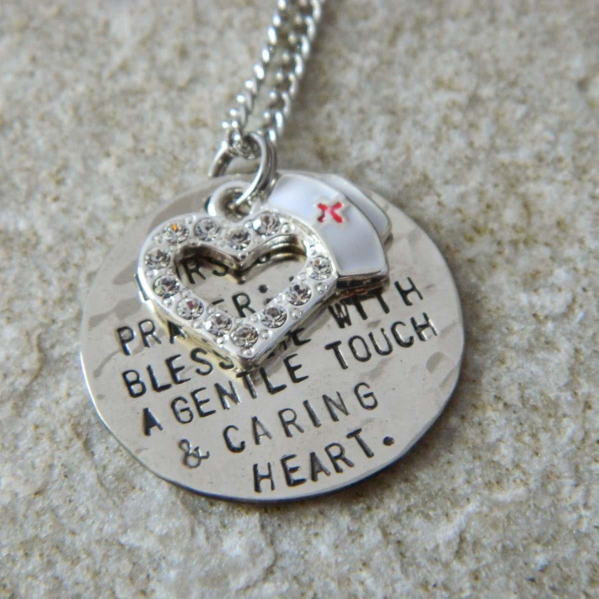 nurses prayer handsted necklace