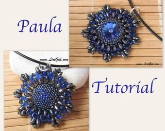 Paula Rivoli-SuperDuo Beadwork Pendant PDF Tutorial