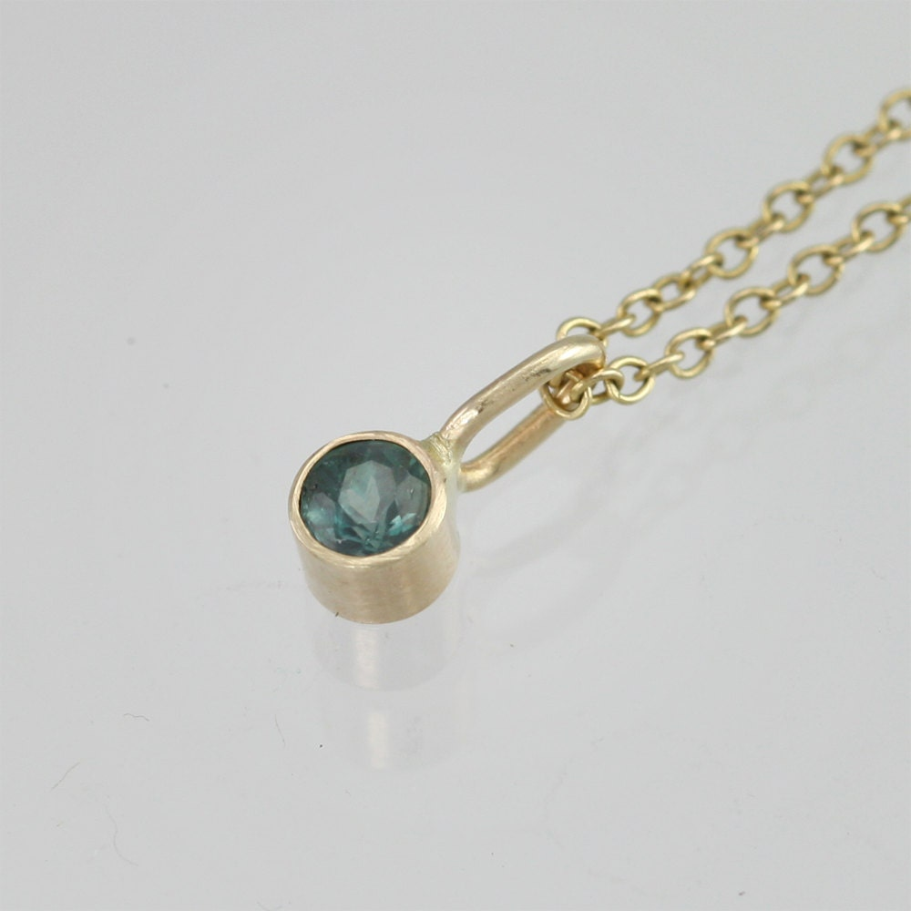 Natural Alexandrite Necklace: Alexandrite Drop Necklace In 14k Yellow By